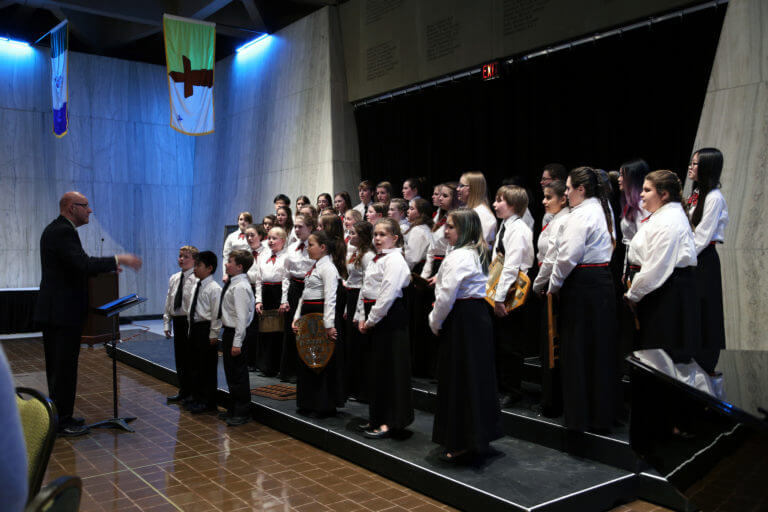 Youth Chorus on stage