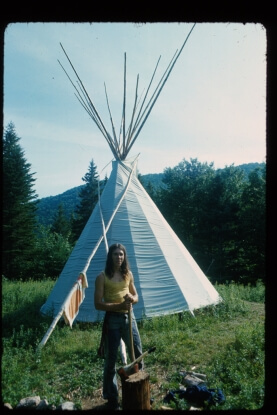 George Thomas, Peter's Tipi, colour inkjet print, 28.6 x x 42.5 cm. Courtesy of the artist