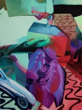 The Interlocutor, (detail), 2015, oil on canvas, 121.9 x 91.4 cm