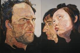 Don Andrus, (detail), 2010, oil stick, oil pastel,fresco slip on meranti board, 163.4 x 121.9 cm