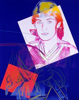 Andy Warhol, Wayne Gretzky 99, (detail), c. 1983, silkscreen on paper, Gift of Frank C. Dorchester, Vancouver, BC, Collection of Confederation Centre Art Gallery