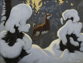 In Canada's Fairyland, 1930, oil on canvas, 76 x 101.9 cm. Collection of the Art Gallery of Hamilton