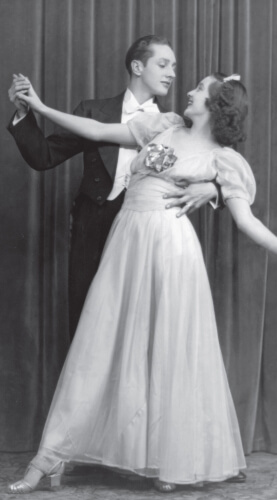 Alan Lund and Blance Harris as Lee and Sandra, 1939, age 14