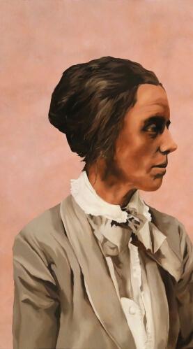 Lillian Boland, 2014, oil on copper panel, 81.3 x 91.4 cm
